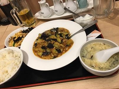 萬珍飯店大山店のマーボーナス定食